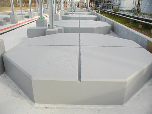 stonchem pads at chemical/mining facility
