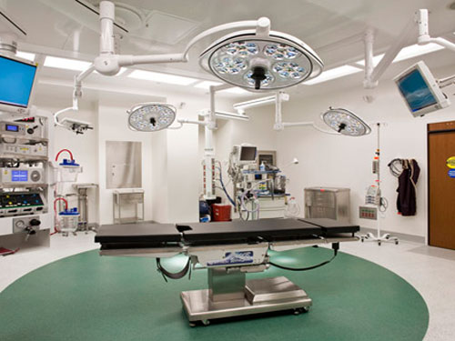stonres flooring in hospital operating room