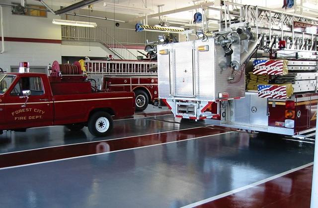 stonclad gs flooring in firehouse